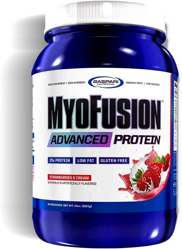 Gaspari Nutrition Myofusion Advanced (2lbs) Strawberries & Cream - 907 gr