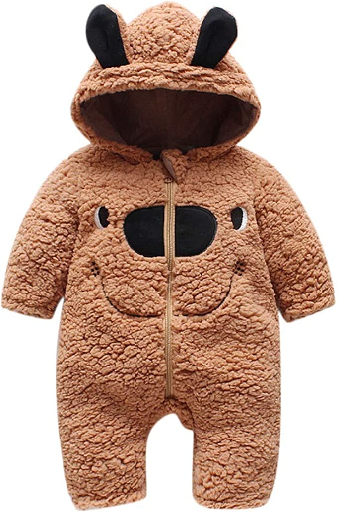 FORESTIME Knitted Jacket for Baby Boys Girls 0-3 Years Old,Winter Warm Outwear with Ears Hoodie Cute Clothes