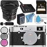 Leica M-P (Typ 240) Digital Rangefinder Camera (Silver Chrome) 10772 Super-Elmar-M 18mm f/3.8 ASPH. Lens + 77mm 3 Piece Filter Kit + 64GB SDXC Card + Card Reader + Deluxe Cleaning Kit Bundle