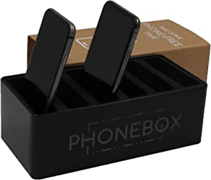 PHONEBOX Cell Phone Stand for Spending Time with Family Friends – Mobile Phone Storage Box for Family Time, Dinner Party, Game Night – Mobile Stand for Classroom, Home, Office, Christmas