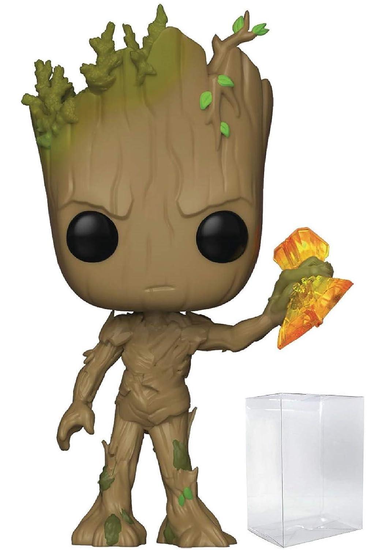 Groot with Stormbreaker Vinyl Figure Funko Pop Includes Pop Box Protector Case Marvel: Avengers Infinity War