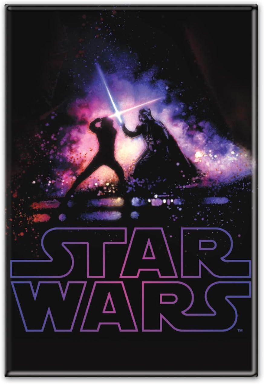 """WinCraft Star Wars Star Wars Star Wars/Original Trilogy 2.5"""" x 3.5"""" Metal MagnetWinCraft Star Wars/Original Trilogy 2.5"""" x 3.5"""" Metal Magnet, Multicolor, NA"""
