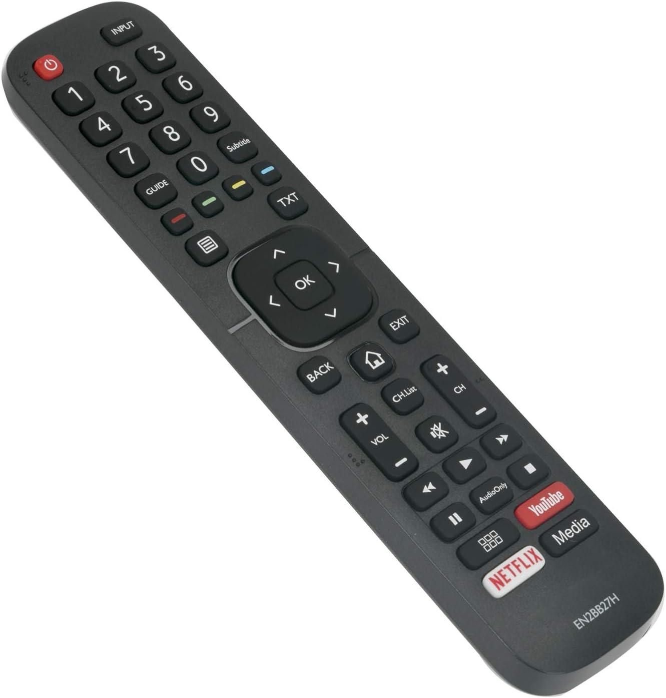 VINABTY EN2BB27H Mando a Distancia de Repuesto Adecuado para Hisense Smart TV H65A6100 H43A5600 H55A6100 H39A5600 con Botones Youtube Netflix: Amazon.es: Electrónica