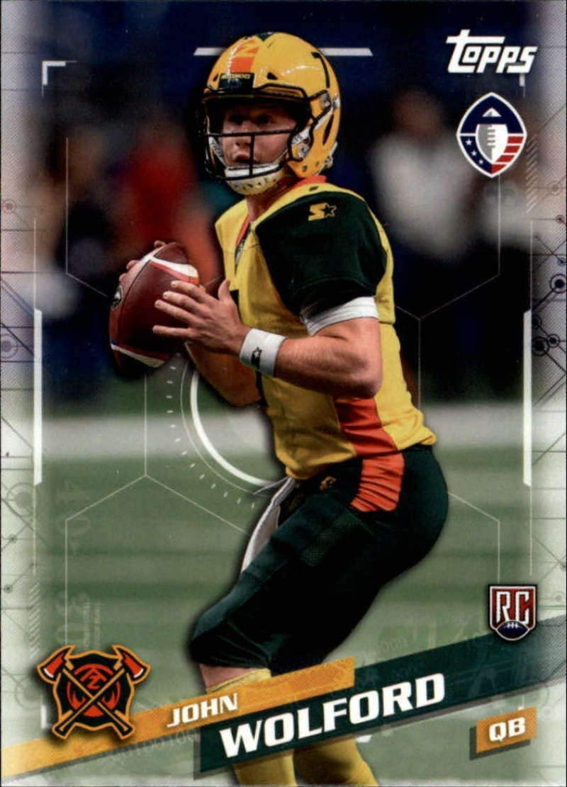 Amazon Com 2019 Topps Alliance Of American Aaf 86 John Wolford Rc Rookie Arizona Hotshots Football Trading Card Collectibles Fine Art