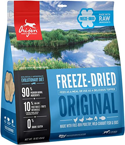 ORIJEN Original High-Protein, Grain-Free, Premium Quality Meat, Freeze-Dried Dog Food