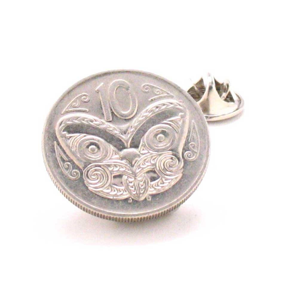 New Zealand Coin Tie Tack Lapel Pin Suit Flag Polynesian Tonga Tahiti Samoa Tropical Auckland