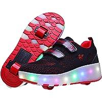حذاء تزلج للأطفال من ريزيا حذاء تزلج بإضاءة LED للشحن عبر USB حذاء تزلج للأطفال