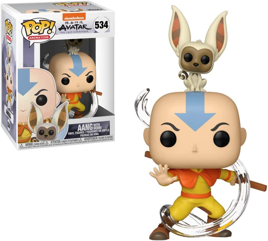 Pop Avatar Aang with Momo Vinyl Figure: Amazon.es: Juguetes y juegos