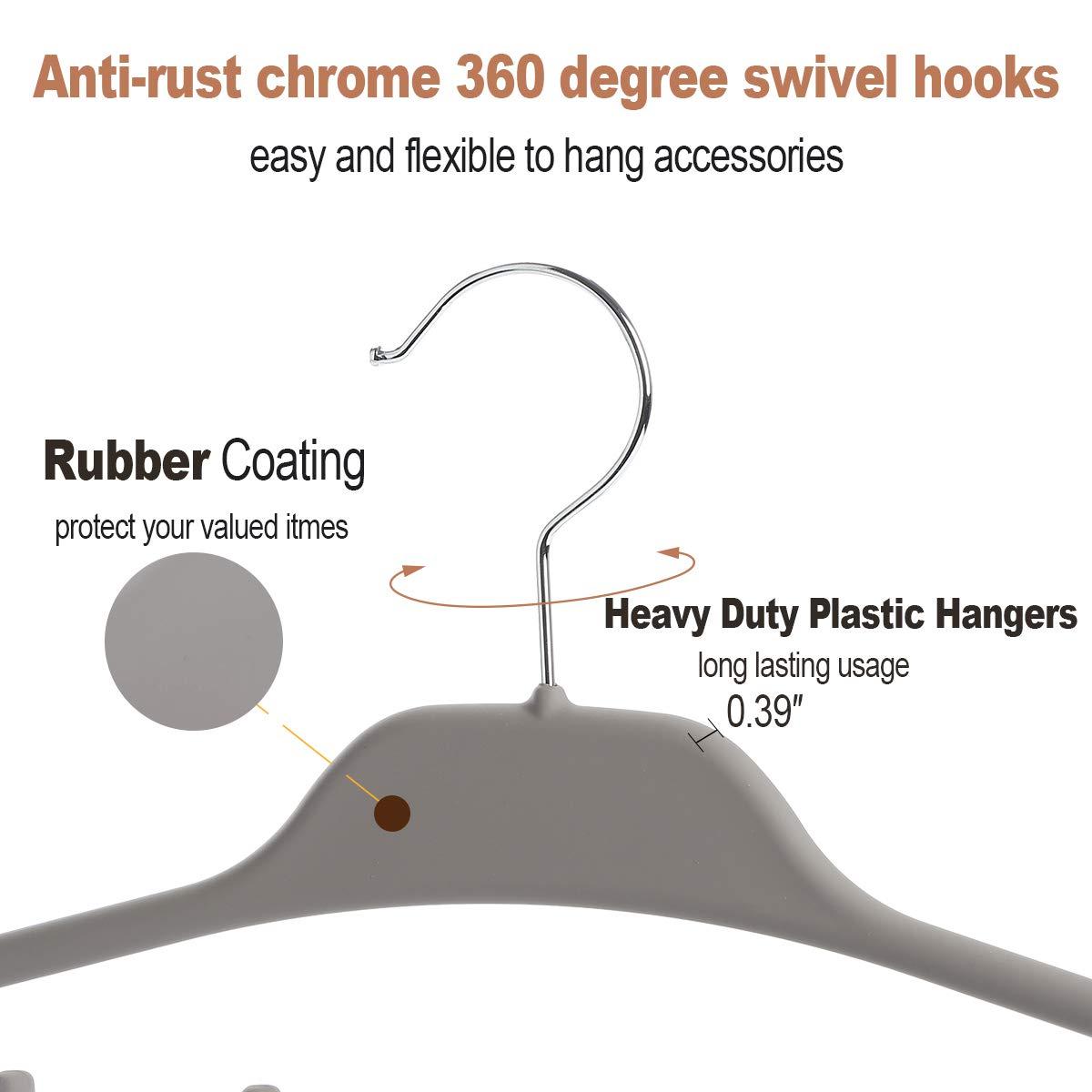 Gummi-Beschichtung Grau Elong Home G/ürtel-Aufh/änger f/ür Kleiderschrank 360 Grad drehbar Krawatten- und G/ürtel-Organizer 11 gro/ße Haken strapazierf/ähiger Kunststoff