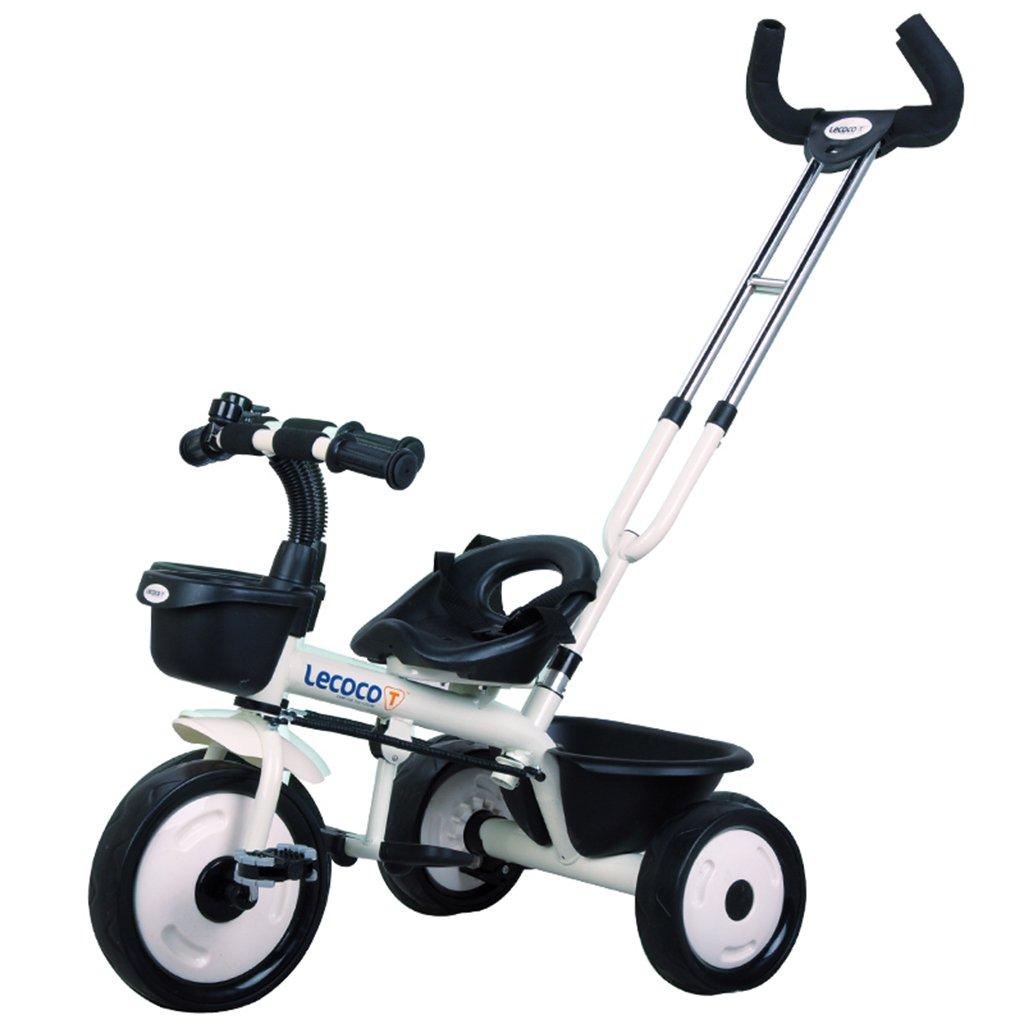 XQ 子供の三輪車の自転車キッズバイク3-6歳のパターのシートベルト 子ども用自転車 ( 色 : 白 ) B07C8YPYSR 白 白