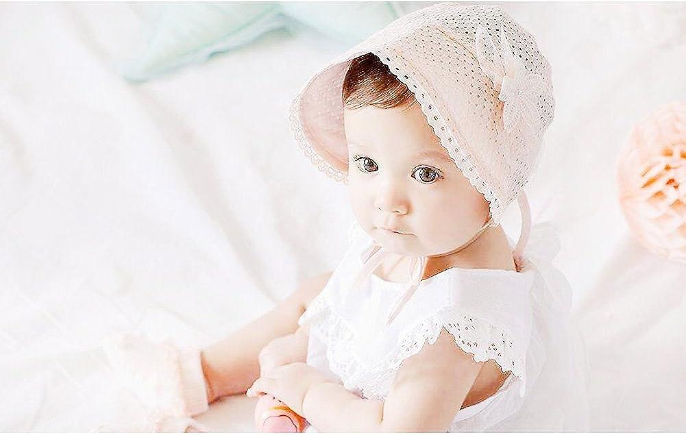 Newborn Infant Baby bonnet Lace hollowed Sun Bucket hat Princess Cap PHOTOGRAPHY