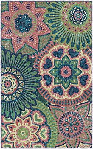 Brumlow MILLS Summer Medallions Colorful Floral Paisley Print Area Rug