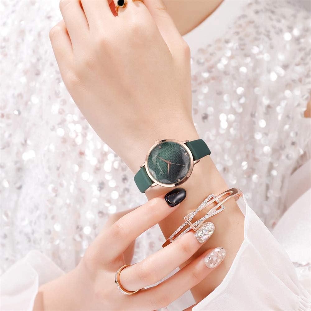 Orologio da donna moda bracciale in PU orologio da donna nuovo semplice orologio da donna temperamento orologio da donna orologio da polso al quarzo Verde