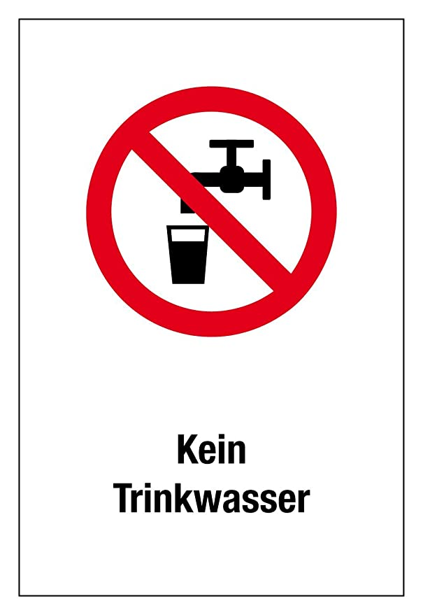 Prohibido de plástico - sin agua potable - Aspecto Longitud ...
