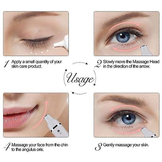 HAIRBY Gesicht Massage Gerät Augenmassagegerät Antifalten Augen Massage Instru