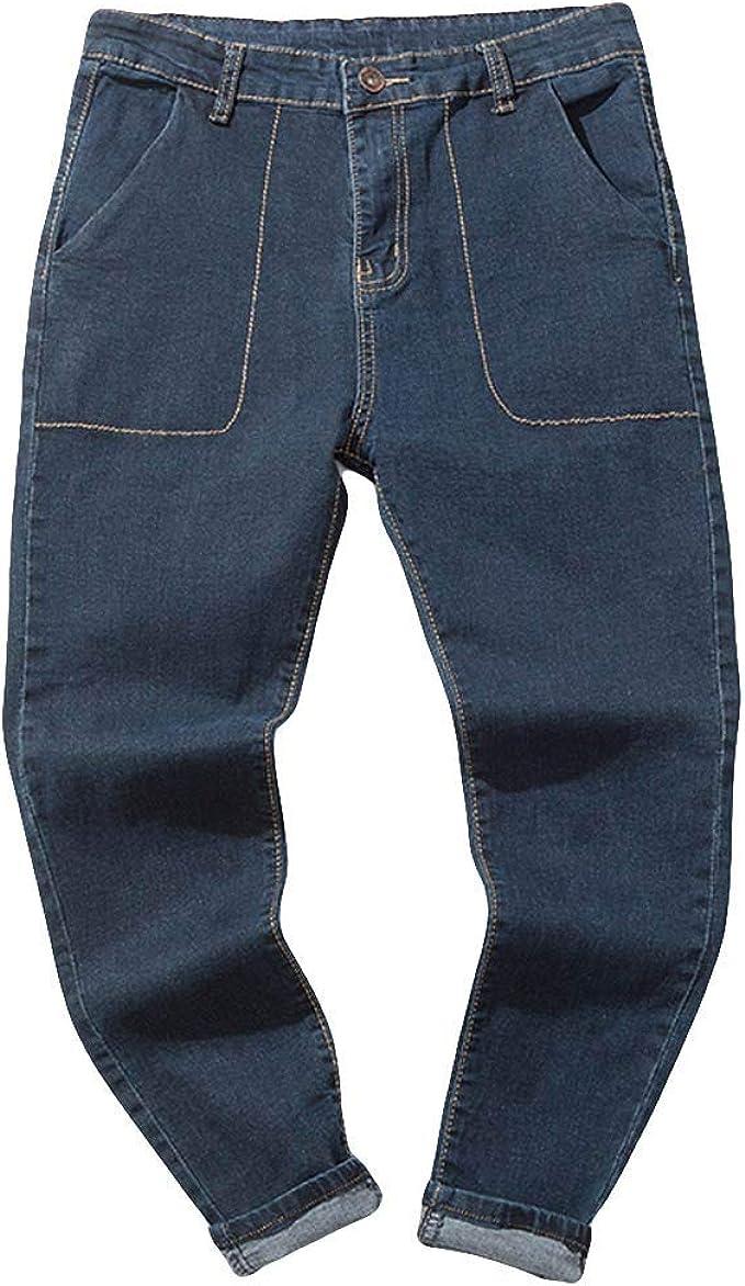 YanHoo pantaloni Pantaloni Casual Uomo, Jeans Uomo,Uomo