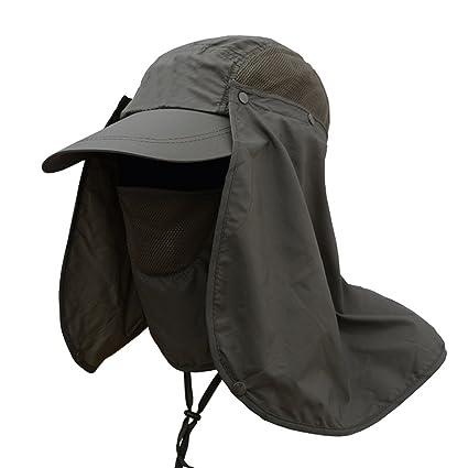 Deruicent Fishing Hat Folding Sun Hat 360° UV Protection Adjust Cap for Men  Women Hiking 950ab85b9269
