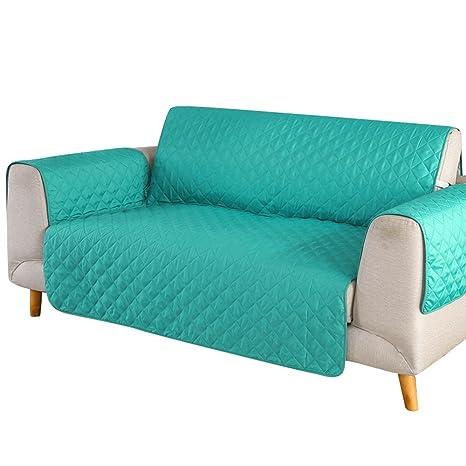 SearchI Fundas de Sofa Reversible 3 Plazas,Cubierta para Sofás Acolchado Cubre de Sofa Antideslizante Protector para Sofás Muebles contra Mascotas, ...