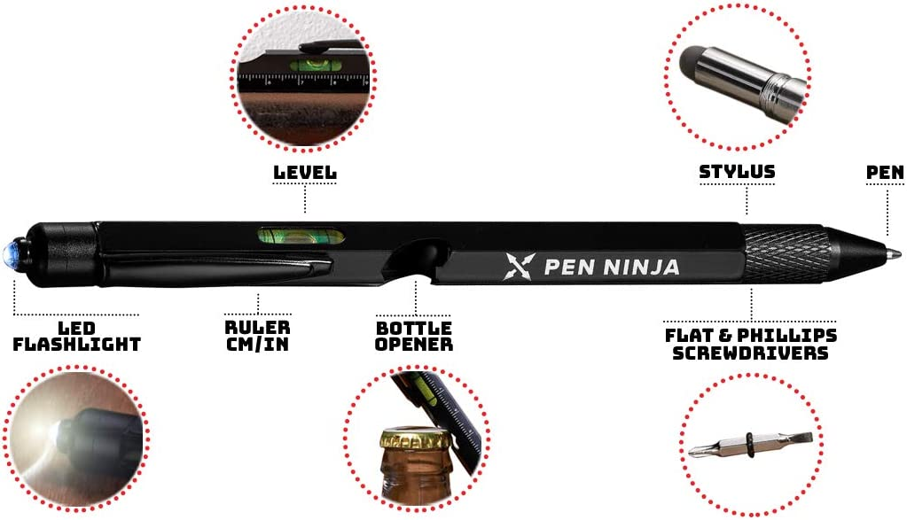 Amazon.com: Pen Ninja: 9 en 1 bolígrafo multiherramienta ...