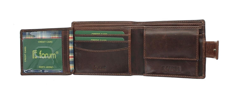 Florentino WINDSOR colección cuero Bi Fold Wallet 7034 marrón: Amazon.es: Equipaje