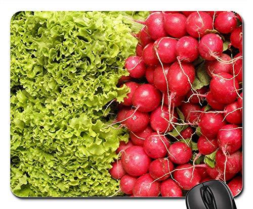 Radish Salad - Mouse Pad - Salad Radishes Vegetables Plants Vegetale Red