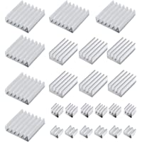 40 x 40 x 11 mm IC 10 Unidades VRAM Silverbead LED Disipador de Calor de Aluminio para GPU