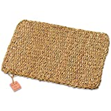 The Made By Nature Rectangular Woven Seagrass Placemats, Set of 4, Chunky Weave, 16 1/8 Inches L, Sustainably Harvested Natural Sea Grass, By Whole House Worlds