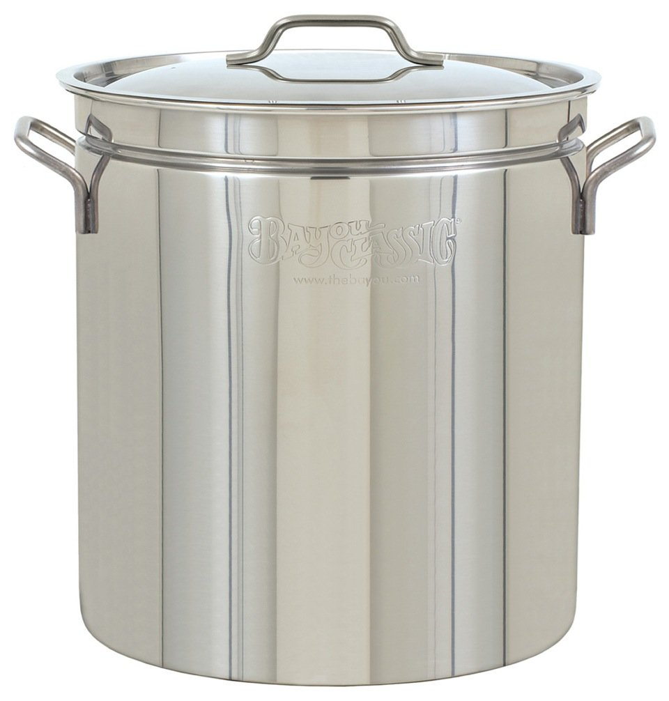 Bayou Classic1024 Stainless Steel Stockpot, 24 qt.