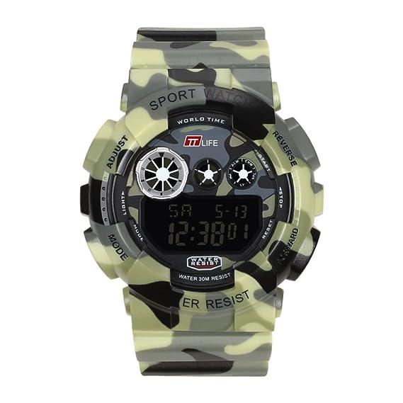 TTLIFE TS15 Reloj Deportivo de Buceo Cámping Reloj Impermeable para Hombres: Amazon.es: Relojes