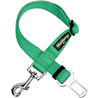 Blueberry Pet 19 Colors Classic Dog Seat Belt Tether for Dogs Cats, Emerald, Durable Safety Car Vehicle Seatbelts Leads…