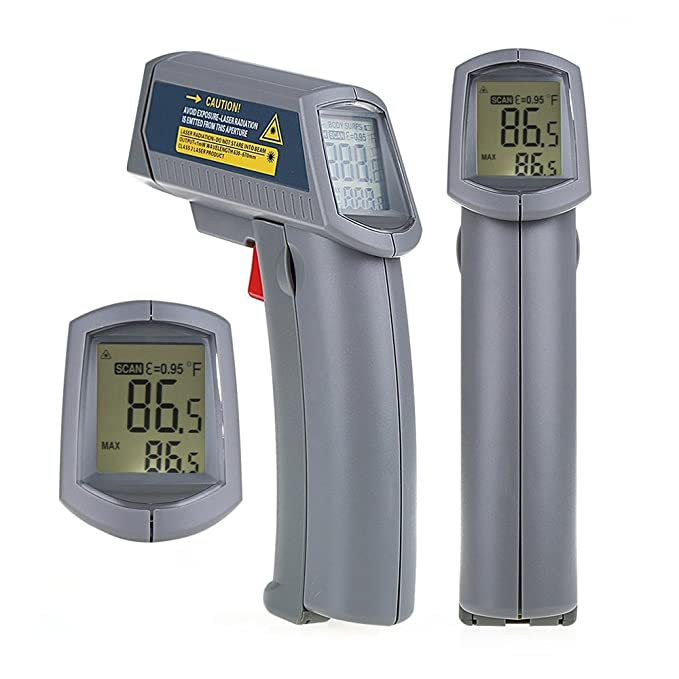 Amazon.com: EbuyChX MS6530 Temperature Gun Non-Contact Infrared Thermometer with Digital D Gray: Electronics