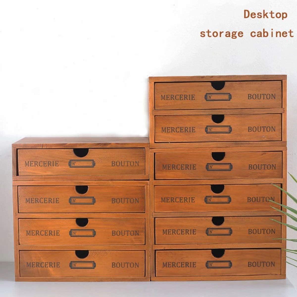 De madera Organizador de escritorio papeler/ía multifuncional Tarjeta Tel/éfono m/óvil Portal/ápiz Caja de almacenaje Proveedores de Ministerio del Interior Cuatro cajones