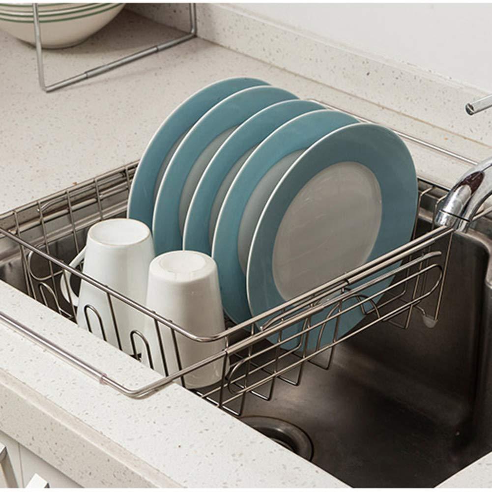 Shelf Storage Racks Pot Rack Storage Basket Shelf Baskets Under Sink Storage Kitchen Dish Rack Drain Basket Telescopic Easy to Clean Cupboard Organizers ZHAOYONGLI by ZHAOYONGLI-shounajia (Image #2)