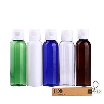 H & D Multicolor cosméticos botella de plástico muestra vacío rellenable contenedor cosméticos botella de