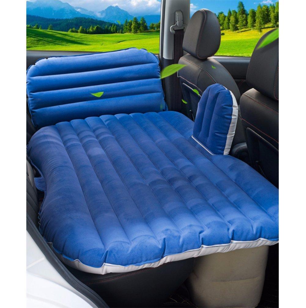 新しいアップグレードされた車インフレータブルベッド、電気マッサージ付きの後部の旅行ベッド、エアマットレス B07F8TX46V Blue Blue