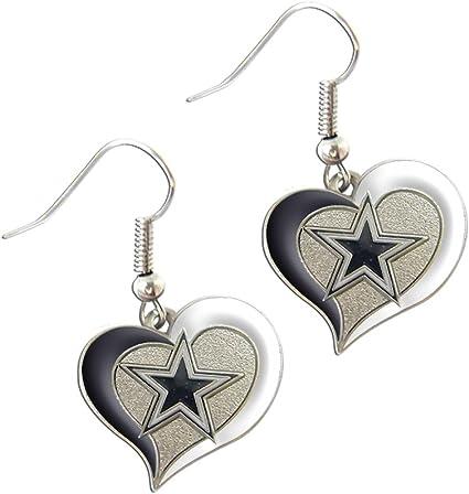aminco Dallas Cowboys Dangle Logo Earring Set Charm Gift