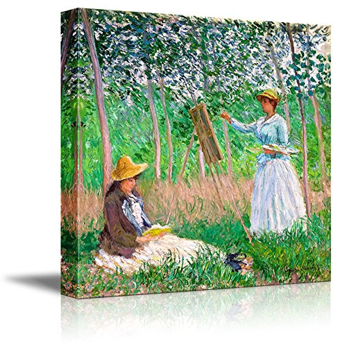 In the Woods at Giverny by Claude Monet Print Famous Oil Painting Reproduction
