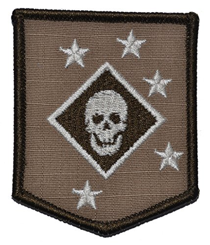[Marine Raider Amphibious Corps Thick Jaw WW2 3x2.5 Shield Military Patch / Morale Patch - Coyote] (Ww2 Navy Uniforms)