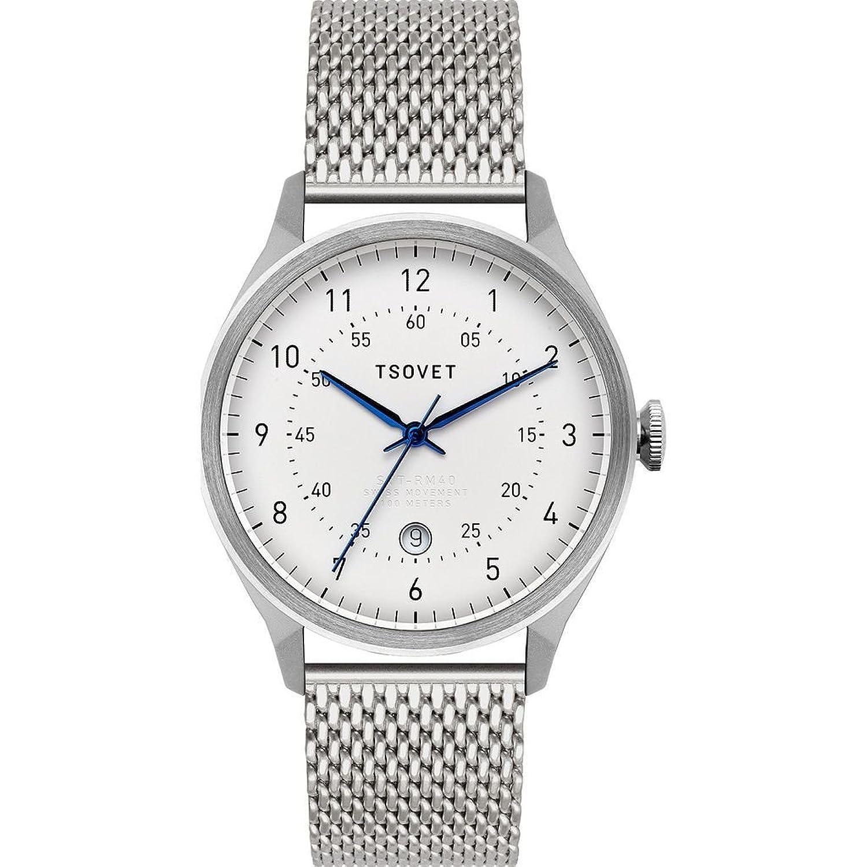 Tsovet svt-rm40シルバー&ホワイト腕時計 ステンレススチール B079JRY5J6