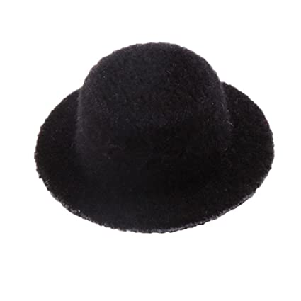 Image Unavailable. Image not available for. Color  dreamflyingtech Black  Bowler Hat 1 12 Scale Handmade Doll House Miniature ... 05307750479c