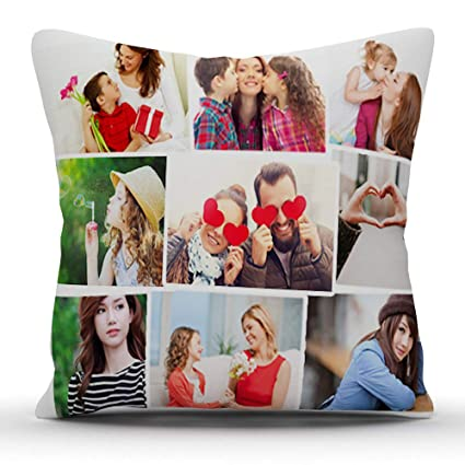 buy k1gifts 9 photos personalized collage satin photo pillow white