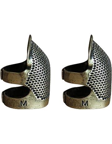 Ajustable metal de coser dedal dedo escudo protector PIN agujas acolchar artesanía accesorios DIY coser herramientas