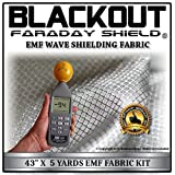 "EMF RF RFID Cell Block Wave Shielding Fabric 43"" X 5 Yards Blackout Faraday Shield"