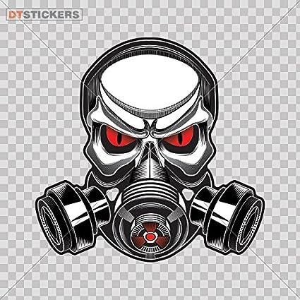Honda Gas Mask Decal Vinyl Sticker Car Window Wall Skull JDM