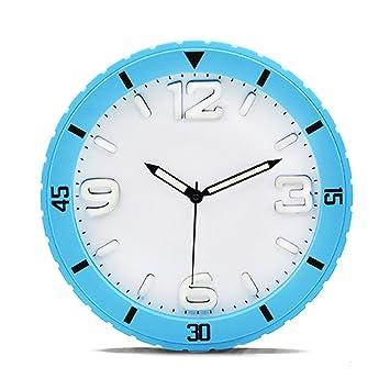 Fashion capital Neumático Diseño Color Caramelo Reloj de Pared Luminoso Mudo Moda Simple Ambiente Estéreo Reloj Digital (Color : A): Amazon.es: Hogar