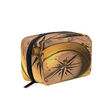 Amazon.com: Organizador de maquillaje Old Steampunk brújula ...