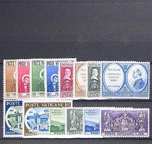 266-279 Briefmarken f/ür Sammler Goldhahn Vatikan 1957 postfrisch Nr