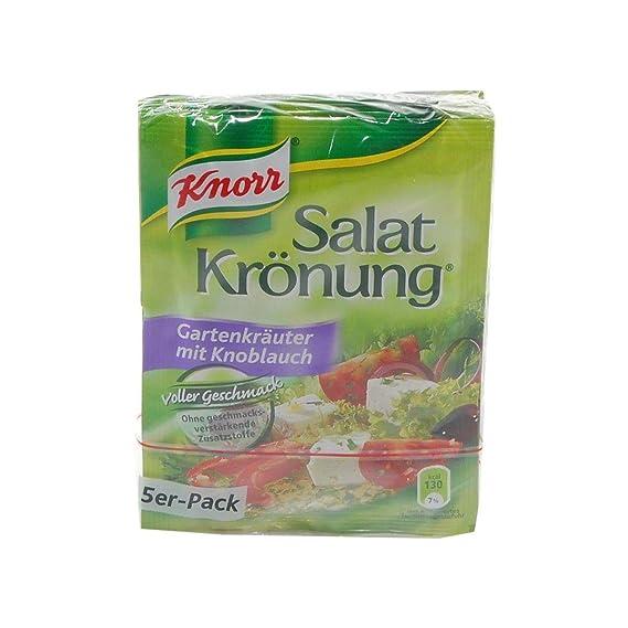 Aderezo con Hierbas para ensaladas alemanas Jardín Knorr Salatkrönung con ajo - 1 x 5 piezas