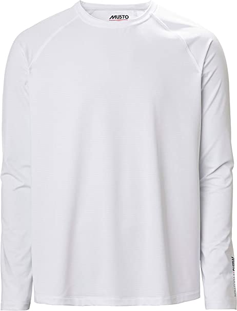 Musto Camiseta de Manga Larga para Hombre Evolution Sunblock tee 2.0 - Blanco - Hecho para Mejorar en Gran Medida la Comodidad Cuando está Active: Amazon.es: Deportes y aire libre