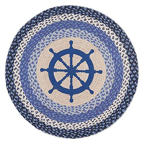Nautical Wheel Round Patch Rug 27